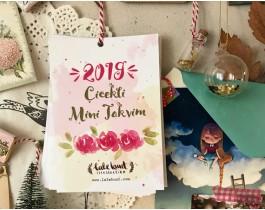Çiçekli Mini Takvim - 2019