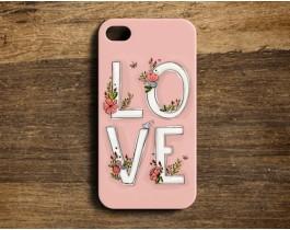 Love / Pembe - Telefon Kılfı