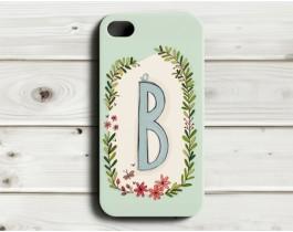 Çiçekli Harfler Telefon Kılıfı - B