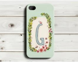 Çiçekli Harfler Telefon Kılıfı - G