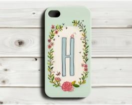 Çiçekli Harfler Telefon Kılıfı - H