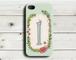 Çiçekli Harfler Telefon Kılıfı - I