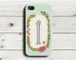 Çiçekli Harfler Telefon Kılıfı - İ