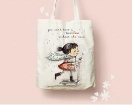 Kaykayli Kız Bez Çanta