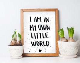 I Am In My Own Little Word