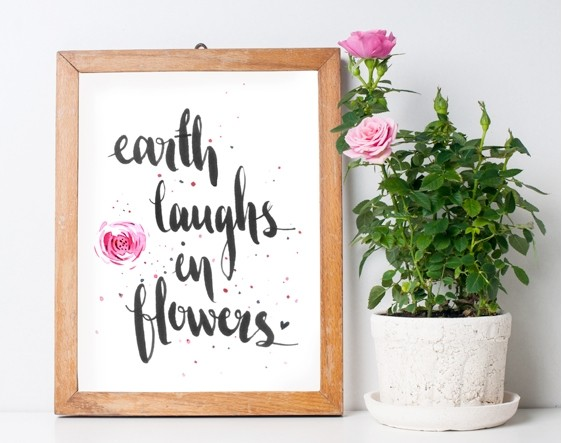 Eart Laughs In Flowers