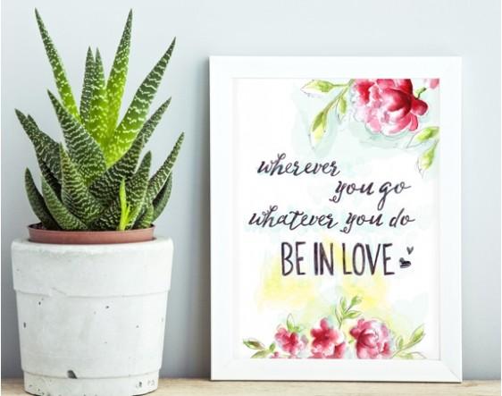 Be In Love-Çiçekli