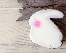 Bir Küçücük Tavşancık Varmış Broş